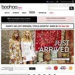30% off boohoo.com Dresses, Tops & Shorts (Exc Sale) + 15% Cashback @ CashRewards