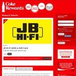 Coke Rewards - New JB Hi-Fi Vouchers $100, $200, $50 & $20 Have Been Added