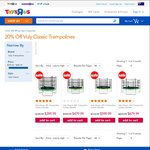 """20% off Vuly Classic Trampolines @ Toys """"R"""" Us - 8'- $400 (Save $100), 10' - $480 Save $120"""