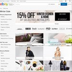 15% off eBay @ 18 Fashion & Home Stores