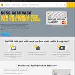 Commonwealth Bank: Low Rate Gold Credit Card - $250 Cashback after $500 Spend
