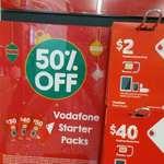 Vodafone Prepaid Starter Kit 50% off at 7-11