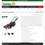 Honda Heritage HRU196 Lawn Mower, Now $975 (Save $174), Pickup in-Store Only VIC @ Hastings Mowers