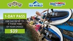 $39 for a 1-Day Pass to Movie World, Sea World or Wet'n'Wild Gold Coast @ Groupon (Save 51%)