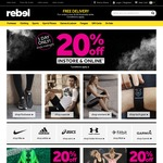 20% off Instore and Online @ Rebel Sport (Saturday 6/5 Only)