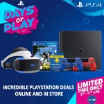 PS4 500GB $289 One Day Sale / PS Plus 12 Months $49 / PSVR + PS4 Camera + VR Worlds $529 @ Big W