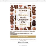 Free Chocolate Frog from Haigh's for World Chocolate Day (VIC, NSW, SA) [7/7]
