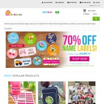 70% off Name Stickers @ Dinkleboo + Delivery