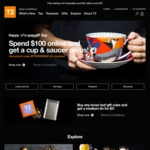 T2 Tea - Spend $100 Online and Receive Most Exotic Cup & Saucer Gift