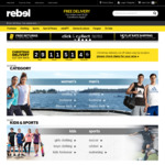 20% off Men's, Women's and Kid's Clothing Instore at Rebel Sport