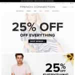25% off Site-Wide + Free Shipping on Orders over $80 @ French Connection