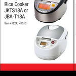 Tiger Rice Cooker JBA-T18A (Made in Japan) $270 at Costco (Membership Required)