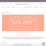 """Nicole Fendel """"Now or Never Sale"""" - Take 70% off Selected Jewellery & Accessories"""