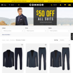 Mens Suits from $79.99 @ Connor with Free Shipping