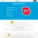 365 Day Prepaid Super Pack $299 (Unlimited Calls, SMS, MMS, 80GB Data) @ ALDImobile