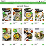 First 50 Customers Only Get $50 off Orders of $100 or More on THR1VE Fresh Ready Meals