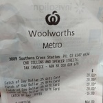 $25 Catch Gift Card for $16 (36% off) @ Woolworths Metro