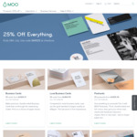 25% off  Business Cards, Postcards, Flyers, Stickers, Labels etc @ MOO
