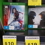 [QLD] Mirror's Edge Catalyst Xbox One $10 (down from $25) Plus a Few Other Games on Clearance at Big W (Pacific Fair)