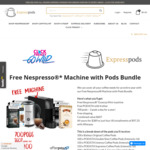 700 Coffee Pods + Bonus Nespresso Coffee Machine + Frother $607 Value - $389 with Free Delivery @ Express Pods