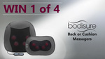 Win 1 of 4 BodiSure Back or Cushion Massagers Worth $139.95 from JA Davey Pty Ltd