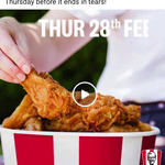 [QLD] 21 Pieces of Chicken for $21 @ KFC via App