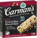 Carman's Muesli Bar Classic Fruit & Nut, 6-Pack (270g) $3.90 + Delivery (Free with Prime/ $49 Spend) @ Amazon AU