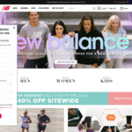 40% off Full Priced Items + Shipping (Free over $100) @ New Balance