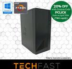 Ryzen 3 2300X GTX 1660 6GB 120GB SSD 8GB DDR4 $719.20, Intel i5 9400F GTX 1660 6GB 120GB SSD 8GB DDR4 $879.20 @ Techfast eBay