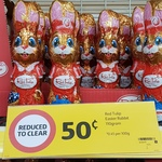 [NSW] Red Tulip Easter Rabbit 110g $0.50 @ Coles Lane Cove