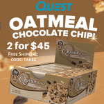 Quest Protein Bars 2 for $45 - Oatmeal Chocolate Chip - 2 Boxes of 12 Free Shipping @ SHN Sydney Health & Nutrition