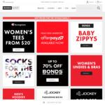 $10 Mens Trunks, $10 Bra, $5 Womens Undies, $15 Kids Sleepwear Set + More @ Bonds Outlet