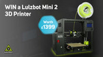 Win a Lulzbot Mini 2 3D Printer Worth $2,500 from Scan