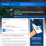 [NSW] Member Pricing ($20 to $40 + $4.65 Admin Fee) Aus V NZ Rugby League Test (WIN Stadium, Wollongong 25 Oct) @ Ticketmaster