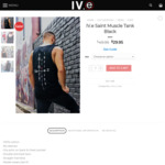 IV.e Saint Muscle Tank Black $10 + $10 Delivery (Free over $150 Spend) @ IV.e