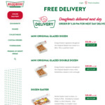 [SA] Free Next Day Delivery @ Krispy Kreme SA