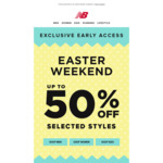 Exclusive Early Access of up to 50% off Selected Styles of NB Shoes @ New Balance