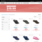 Crocs Flips & Slide $19.99 Delivered @ Crocs