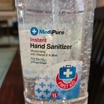 Medipure Hand Sanitizer 1 Litre for $10 at Kmart