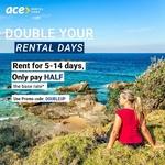 50% off Car Rentals @ Ace Rental Cars (5-14 Days Rental)