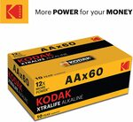 Kodak AA 60 Pack Xtralife Alkaline Batteries $18.01 + Delivery ($0 with Prime/ $39 Spend) @ Amazon AU