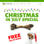 DOG TREATS - Free Bag of Roo Bones with 1kg of Selected Kangaroo Treats with Our Christmas in July Sale @ Slobber Chops