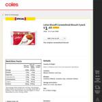 Lotus Biscoff Caramelised Biscuit 8 Pack 124g $1.45 (Save $0.35, $1.17 Per 100G) @ Coles