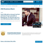 ANZ Business Black - No Annual Fee First Year, $300 Thereafter (Note - Not Normal ANZ Black Card)