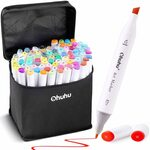 [Prime] Ohuhu Dual Tips Coloring Marker Pens (80 Colors) $36.79 Delivered @ Amazon AU
