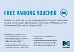 Free Parking in Melbourne CBD 1 Dec 20 to 3 Jan 21