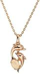 925 Sterling Silver Solid Opal Dolphin Necklace $99 (Save $140) + $10 Delivery (Free over $100 Spend)  @ Wellington Jeweller