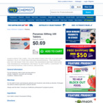 Panamax 100pk $0.69 Delivered @ My Chemist / Chemist Warehouse (+ Free Shipping on Rest of Cart)