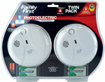 Family First Photo-Electric Smoke Detectors Twin Pack $21.98 + $9.90 Shipping @ Family First