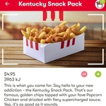 Kentucky Snack Pack $4.95 (Secret Menu App Exclusive) | Large Chips $2 (Expired) @ KFC